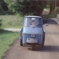 "La prima ""auto"". Prima di fare la patente mi dilettavo a guidare il mitico Ape - My first car, before I obtained my driver's licence, I drove a mythical ""Ape""."
