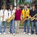 Il mitico quartetto di sassofoni durante una vacanza studio musicale - The legendary saxophone quartet on a music holiday school