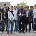 Krzysztof Zanussi, una foto ricordo dopo il seminario che il regista ha tenuto in Università - A memory photo after the seminar held by the movie director at the University