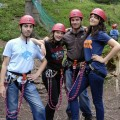 In vacanza con gli amici - With friends, I am following a climbing track on high tree branches