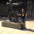 Nottingham, l'immancabile foto con Robin Hood - Nottingham, you have to take a photo with Robin Hood