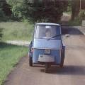 """La prima """"auto"""". Prima di fare la patente mi dilettavo a guidare il mitico Ape - My first car, before I obtained my driver's licence, I drove a mythical """"Ape""""."""