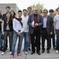 Krzysztof Zanussi, una foto ricordo dopo il seminario che il regista ha tenuto in Università - A memory photo after the seminar held by the movie director at the University