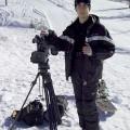 Riprese sulle piste da sci. Dura sciare portando in giro tutto quel peso! - Shootings on ski tracks. It's hard to ski with such a weight on me!