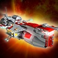 LEGO Repubblic Frigate. Fotografia di un mio modello LEGO Star Wars opportunamente ritoccato e post-prodotto per creare il massimo realismo possibile - LEGO Repubblic Frigate picture of one of my LEGO Star Wars model purposely retouched and edited to create the best possible realism