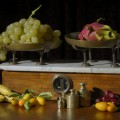 Natura Morta - Fruit still life with scale