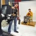 Preparando il ritratto del Maestro Mattia Tonon - Setting up the shooting of Master Mattia Tonon - Preparing the portrait of the violinist Mattia Tonon, Photographic set of the Impossible Bazan Project